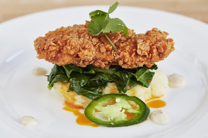 멤피스 미트가 올해 3월 세계 최초로 선보인 인공 닭 고기로 만든 요리. 맛, 식감, 육즙 모두 실제 닭 고기와 유사하다는 평가를 받았다. - 멤피스 미트 제공